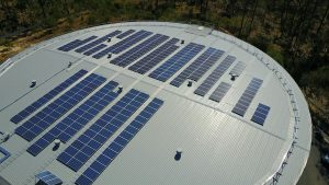 Solar Panel Cleaning Logan Water Treatment Plant 1
