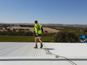 man working on the roof in Adelaide