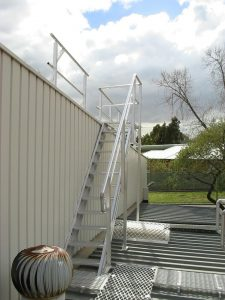 Safety Ladder to roof